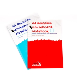 Twin Pack - A4 (Plain & Ruled with margin) Reusable Whiteboard Notebook ™  16 pages
