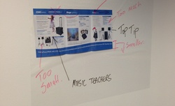 Magic Clearboard holds leaflets & documents on a wall