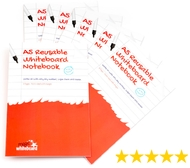 10 Pack - A5 Ruled with margin - Reusable Whiteboard Notebook ™  8 pages
