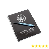 A5 Reusable Magic Notebook ™ & Dry Erase Correctable pen - reusable whiteboard notebook and pen - 40 pages