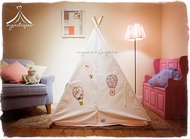 Deluxe Handmade Children's Teepee Set - Hot Air Balloon