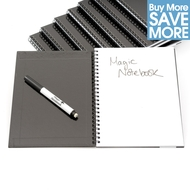 School Class Pack of x 250 A5 Reusable Magic Notebooks ™, x 250 Black Dry Erase Whiteboard Markers - 40 pages