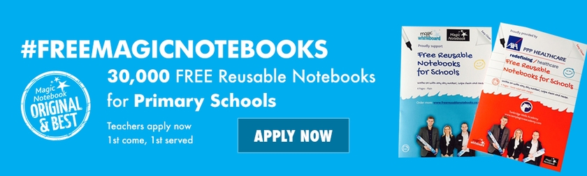 Free reusable notebooks for primary schools