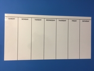 DAY OF WEEK - Self Adhesive Whiteboard Weekly Planner - Vinyl Wall Decal - 120cm by 60cm. Includes whiteboard marker.