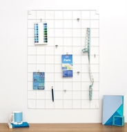 Wire Mesh Memo Board - White - Large - 60cm by 80cm