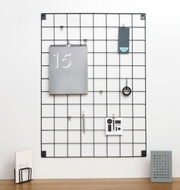 Wire Mesh Memo Board - Grey - Large - 60cm by 80cm
