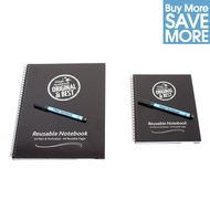 A4 and A5 Reusable Magic Notebook ™ & 2 Staedtler correctable dry erase pens
