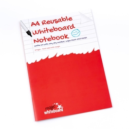 5 Pack - A4 Ruled with margin - Reusable Whiteboard Notebook ™  8 pages