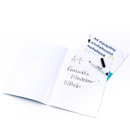 5 Pack - A4 Plain Reusable Whiteboard Notebook ™