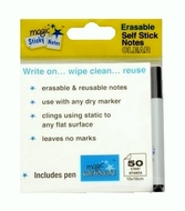 CLEAR Magic Sticky Notes - 50 sheets - includes free pen
