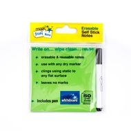 5 Pack - GREEN Magic Sticky Notes ™  Pad - 50 sheets - includes free pen