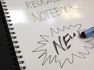 A4 Magic Notebook ™ - reusable whiteboard notebook and pen