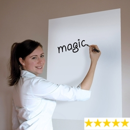 A1 Plain White Magic Whiteboard ™ - 25 sheet roll & FREE Magic Clicky Marker