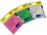 3 pack - Multi Pack - Magic Sticky Notes - PINK, GREEN, WHITE - 150 sheets