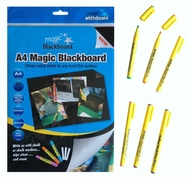 Value Pack - A4 Magic Blackboard 20 sheets & 6 Chalk Markers