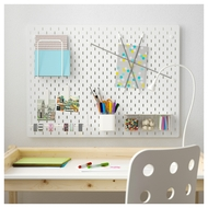 SKÅDIS White Pegboard - Large - 76 by 56cm  - IKEA