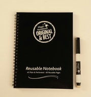 A5 Magic Notebook ™ - reusable whiteboard notebook and pen