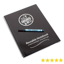 A4 Reusable Magic Notebook ™ & Dry Erase Correctable pen -  - reusable whiteboard notebook and pen - 40 pages