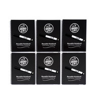 6 Pack - A5 Reusable Magic Notebook ™ ™ - reusable notebook and 6 pens