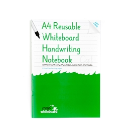 5 Pack - A4 Reusable Whiteboard Handwriting Notebook ™  8 pages