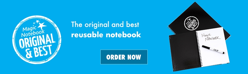 Reusable Whiteboard Notebook