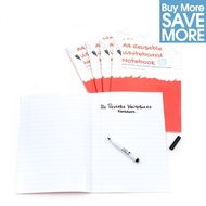 Class Pack (Save £29.71) - 30 A4 Ruled with margin -  White Reusable Magic Whiteboard Notebooks  ™ - 8 pages