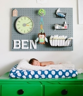 Nursery Pegboard - Grey - Large - 80 by 60cm