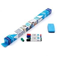 1 roll of Magic Whiteboard ™ 15 sheets, 4 Magic Whiteboard Markers, 1 Magic Eraser
