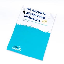 5 Pack - A4 Plain Reusable Whiteboard Notebook ™ 8 pages