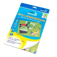 A4 Magic Whiteboard ™ - GREEN  - Mini Whiteboard sheets - 20 sheets