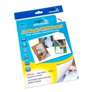 A4 Magic Whiteboard ™ - WHITE  - Mini Whiteboard sheets - 20 sheets