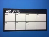 THIS WEEK - Self Adhesive Whiteboard, Weekly Vinyl Wall Planner - 120cm by 60cm. Includes whiteboard marker