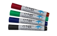 4 Magic Whiteboard dry markers (4 colours, mixed)