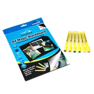 Value Pack - A4 Magic Blackboard ™ 20 sheets & 6 Chalk Markers