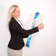 EXTRA CLING A1 Plain White Magic Whiteboard ™ - 25 sheet roll