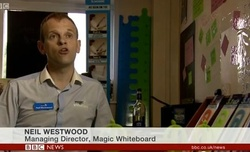 BBC national news Magic Whiteboard boosts economy