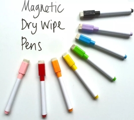8 Magnetic Dry Wipe Whiteboard Pens