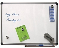 Magnetic Whiteboard 60 x 90cm. Includes whiteboard markers, whiteboard eraser & wipes