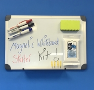 Magnetic Whiteboard 30 x 45cm. Includes whiteboard markers, whiteboard eraser & wipes