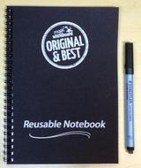 A5 Magic Notebook ™ - reusable whiteboard notebook and pen