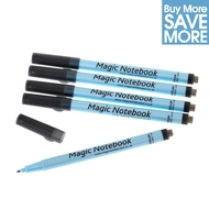 5 (Save £5) Correctable Dry Erase Whiteboard Pens - BLACK - FINE TIP - 0.6mm