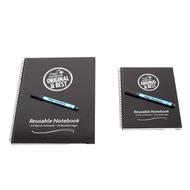 A4 and A5 Reusable Magic Notebook ™ & 2 Staedtler correctable dry erase pens