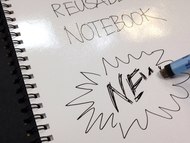 Magic Notebook ™ - reusable whiteboard notebook