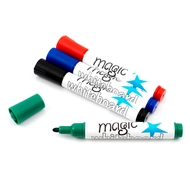 4 Magic Whiteboard dry whiteboard markers (4 colours, mixed)