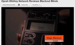 Magic Blackout Blind recommended on Oprah Winfrey Network, tested & stops all light