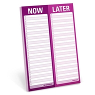 Knock Knock Notepad - Now - Later To Do List