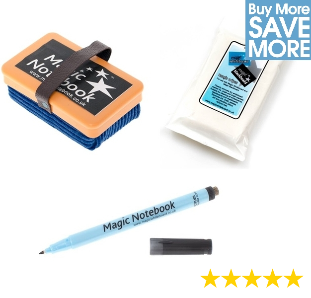 Magic whiteboard cleaning kit