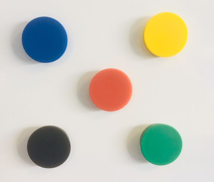 Whiteboard Magnets 20mm Assorted - Pack of 5