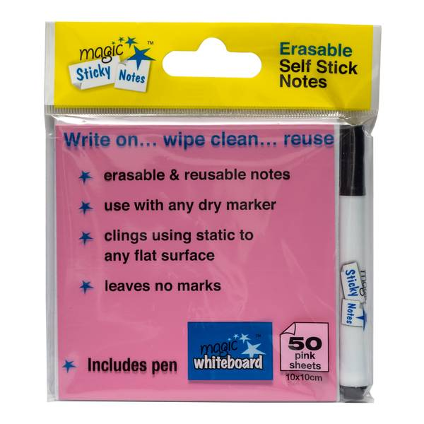 magic sticky notes, post it notes, self stick notes