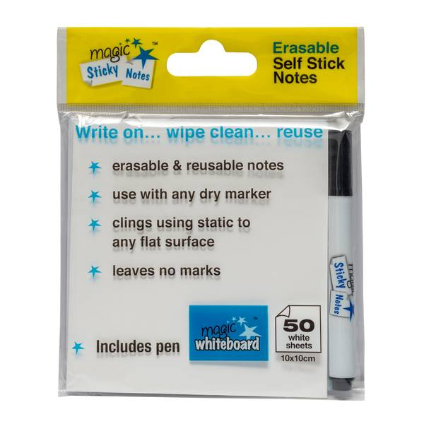 static notes, magnetic notes, White erasable Magic Sticky Notes, best sticky notes, best post it notes, cheap post it notes